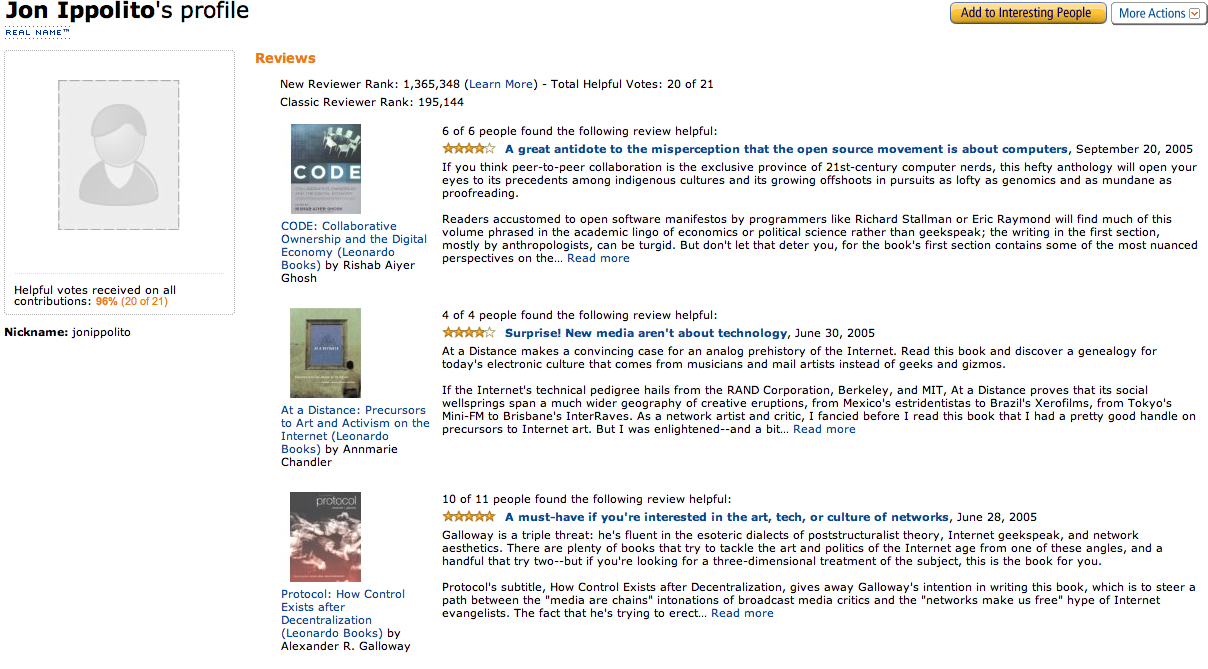 Above: Reviews Of Mit Press Books On New Media Art On Amazon